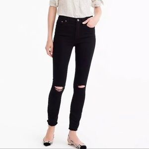 J. Crew Lookout High Rise Ripped Skinny Jeans